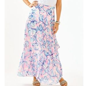 Lilly pulitzer Agnes maxi skirt chasing the sun
